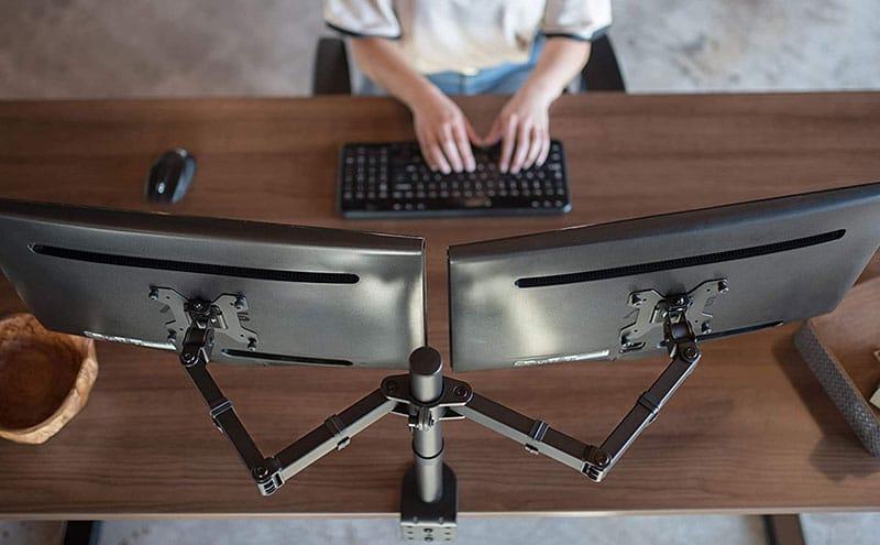 VIVO dual monitor desk mount