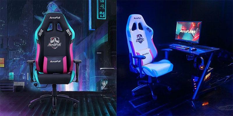 Autofull Neonpunk gaming chairs (black and white)