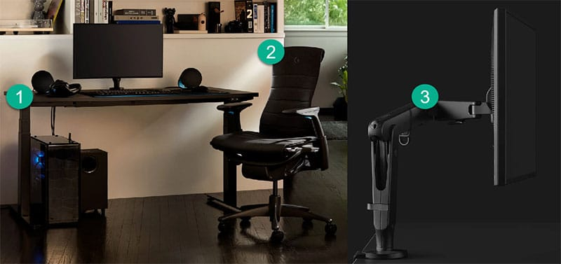 Herman Miller ergonomic blueprint setup