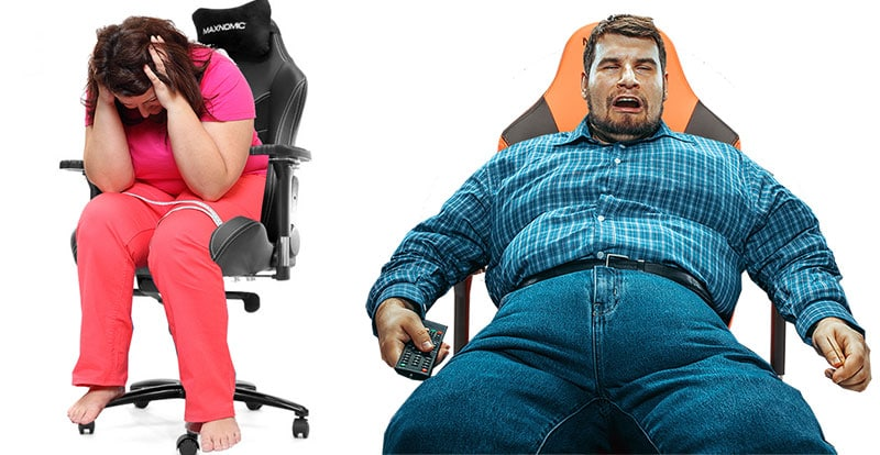 Using a gaming chair that is too small