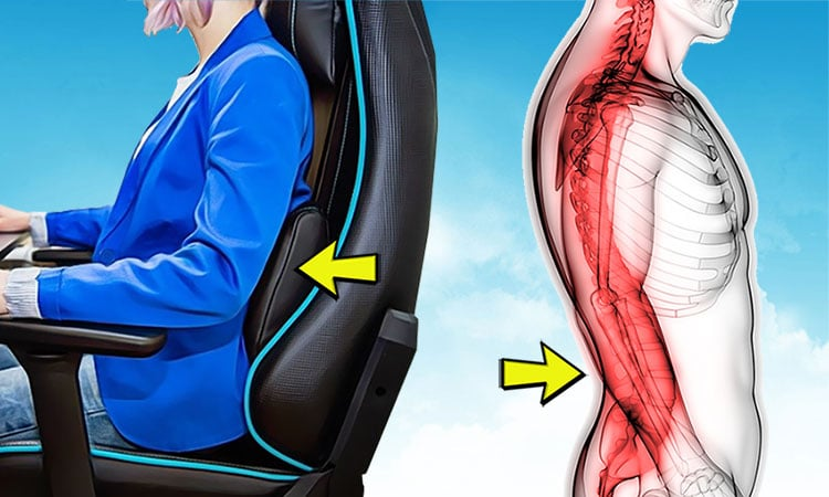 How does a gaming chair lumbar support help?