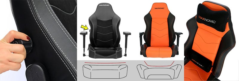 OFC chjairs versus Maxnomic Pro chairs
