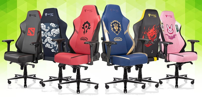 Secretlab video game chairs