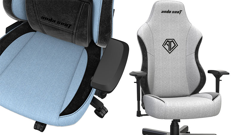 Closeup of T-Pro gaming chairs