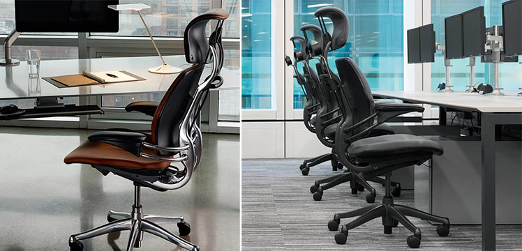 Humanscale Freedom chairs in a corporate environment