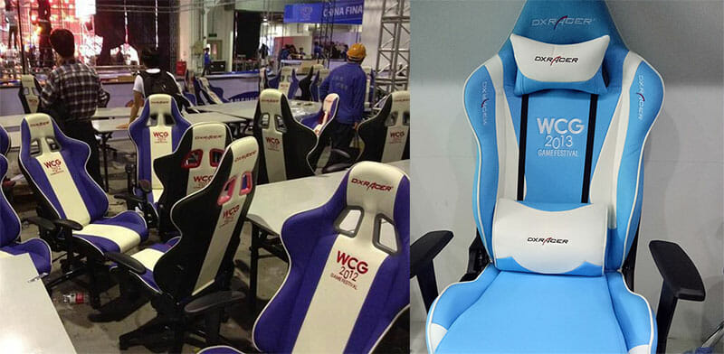 DXRacer WCG gaming chairs