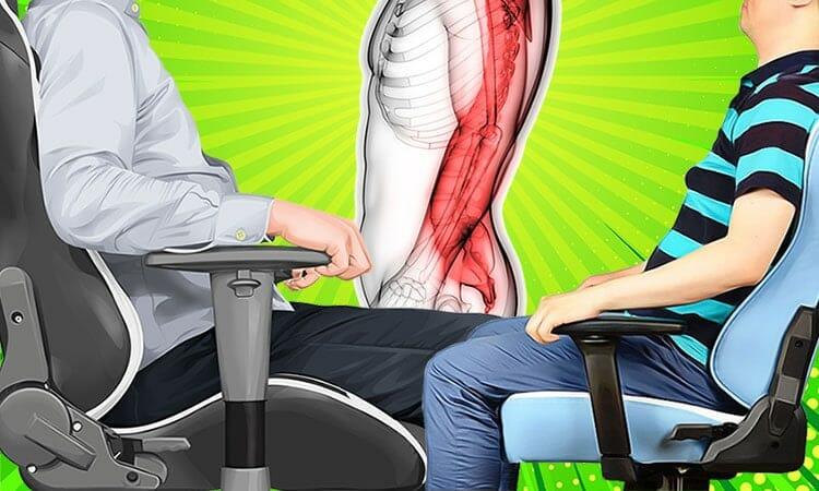 Healthy ergonomic sitting guidelines