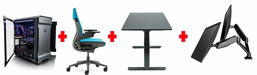 Ergonomic workstation essential parts