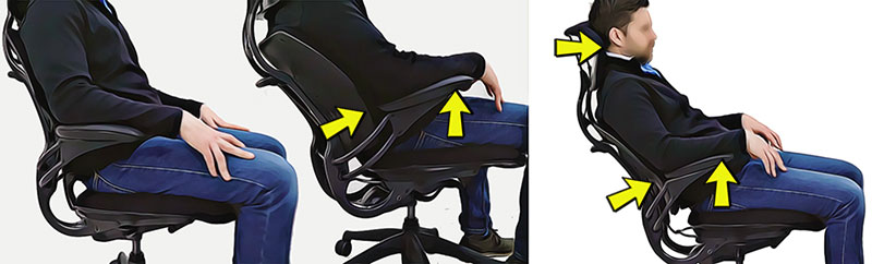 Freedom chair dynamic arm support