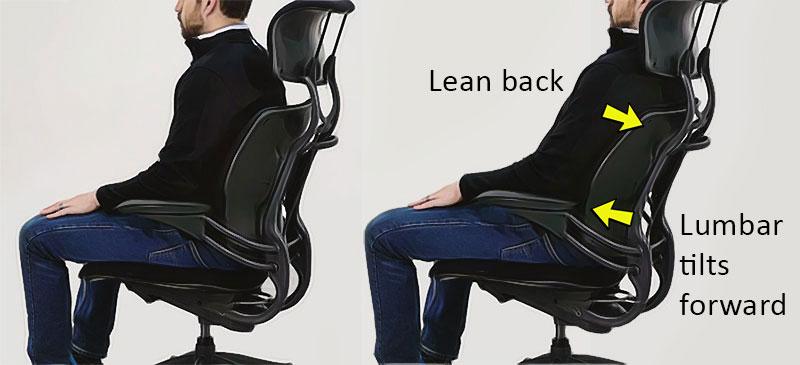 Freedom chair dynamic backrest