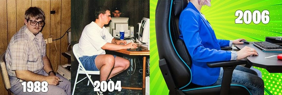 Gaming chair historical timeline