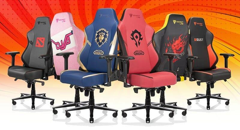 Secretlab branded video game chairs