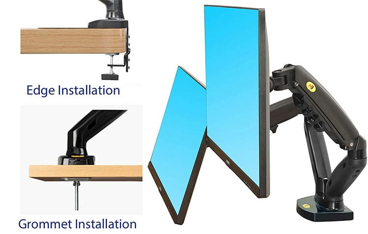 North Bayou desk mount installation options