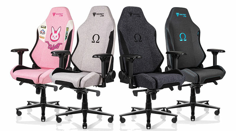 Secretlab Omega Softweave fabric chairs