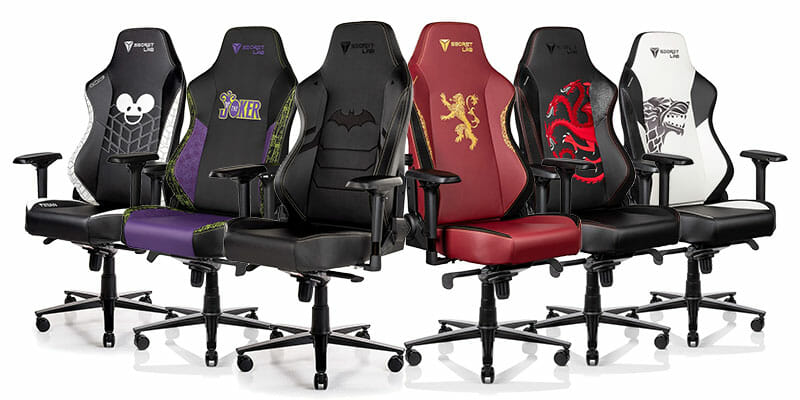 Secretlab licensed entertainment gaming chairs