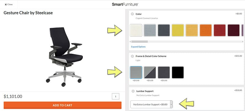 Smartfurniture shopping experience