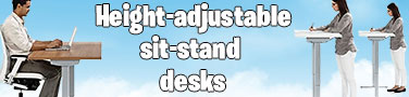Height-adjustable sit-stand ergonomic desks
