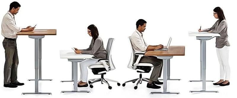 Sit-stand desk illustration