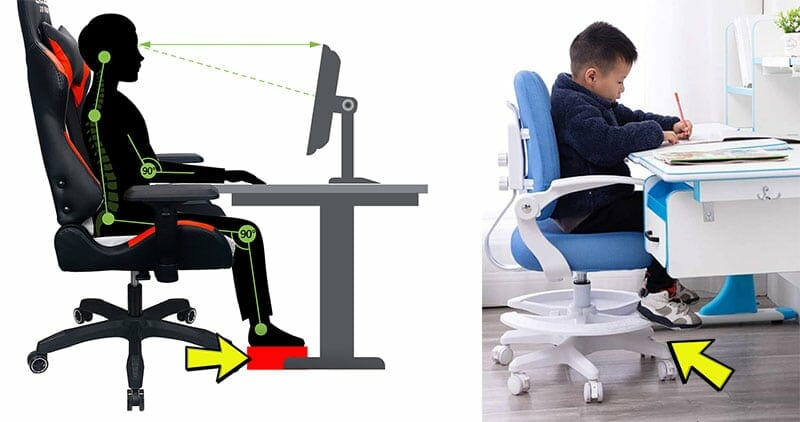 Boosting sitting height with a footrest