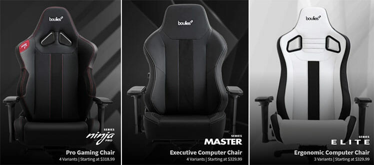 Boulies gaming chairs