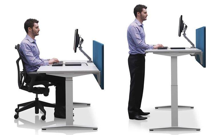 Herman Miller sit-stand height-adjustable desks