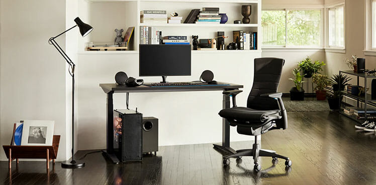 Herman Miller work-from-home setup