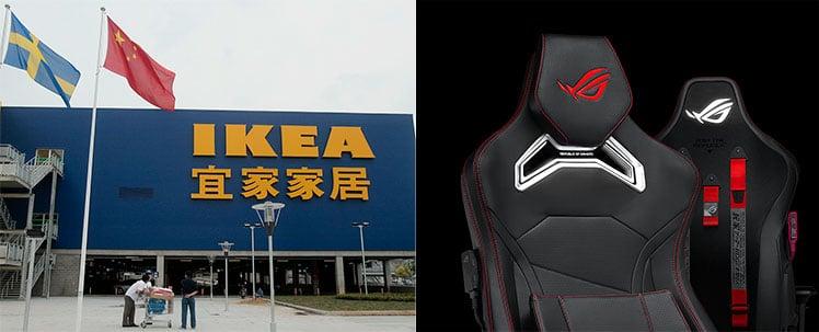 IKEA ASUS ROG gaming chairs