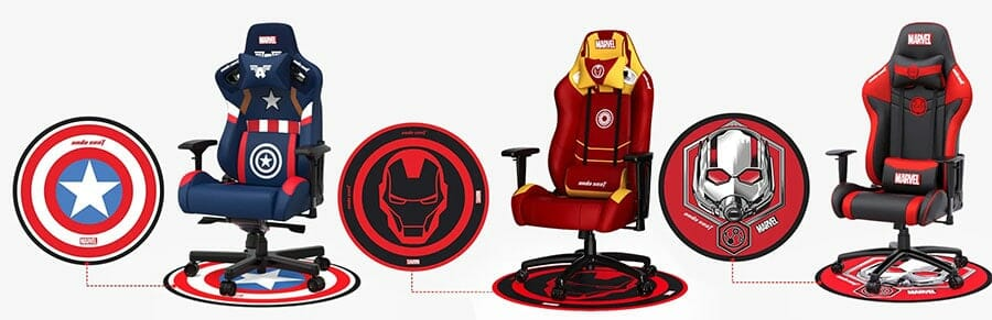 Marvel edition gaming chair floor mats