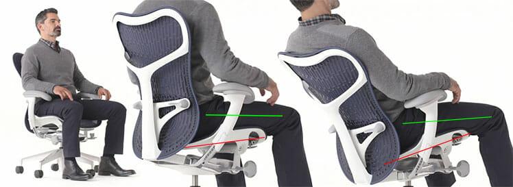Mirra 2 chair Harmonic tilt feature