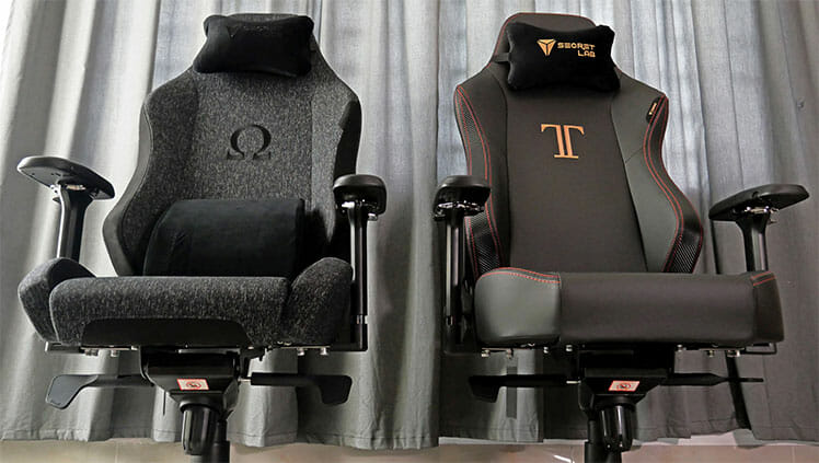 Titan versus Omega chairs compared