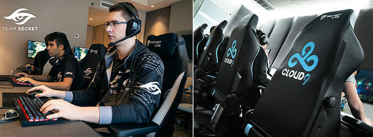 Pro esports players using Secretlab chairs