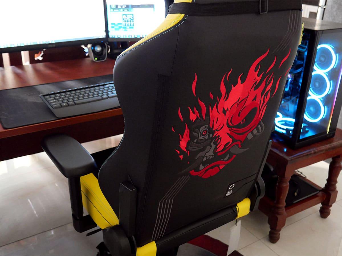 Cyberpunk Titan chair rear view