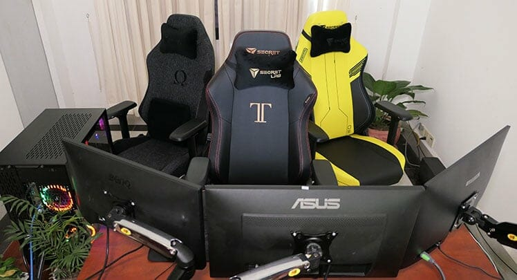 Secretlab gaming chair workstation