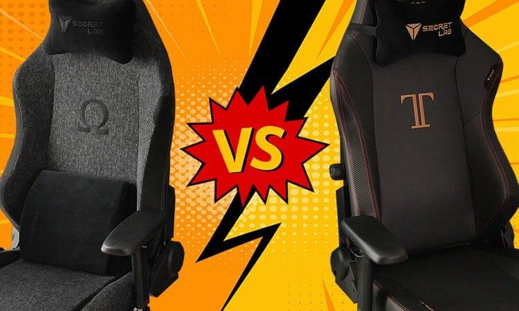 Secretlab Omega versus Titan comparison