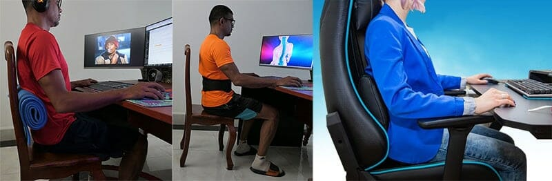 Gaming chair lumbar support
