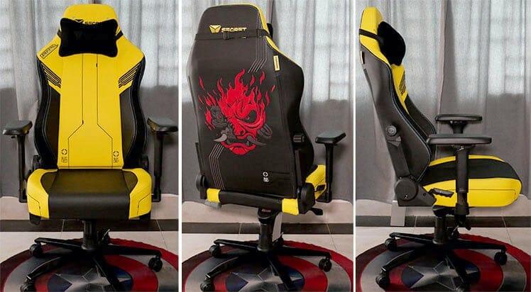Secretlab Cyberpunk gaming chairs 3 angles