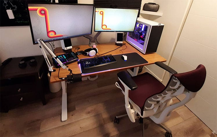 Embody gaming from home setup