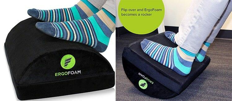 Ergofoam footrest