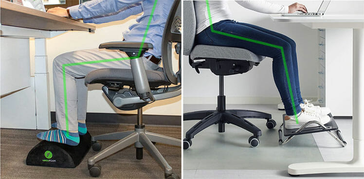 Benefits of using an ergonomic footrest
