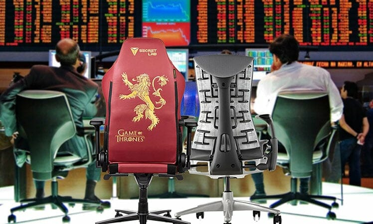 Gaming chairs used by top stock traders