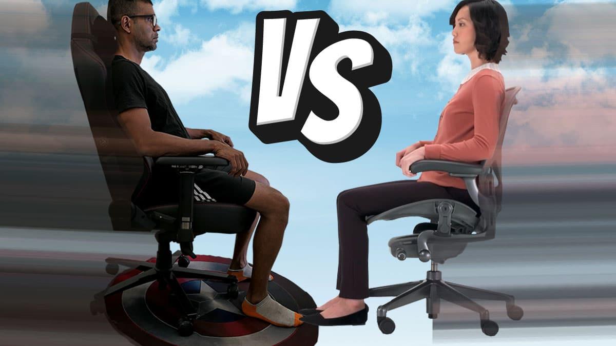 Gaming chairs vs ergonomic task chairs
