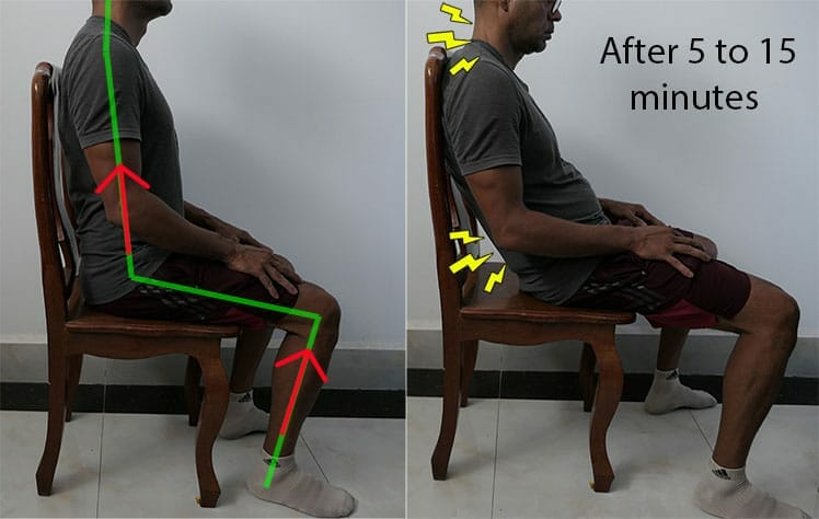 Unsupported sitting demonstration