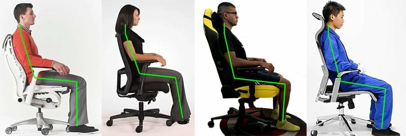 Neutral posture sitting examples