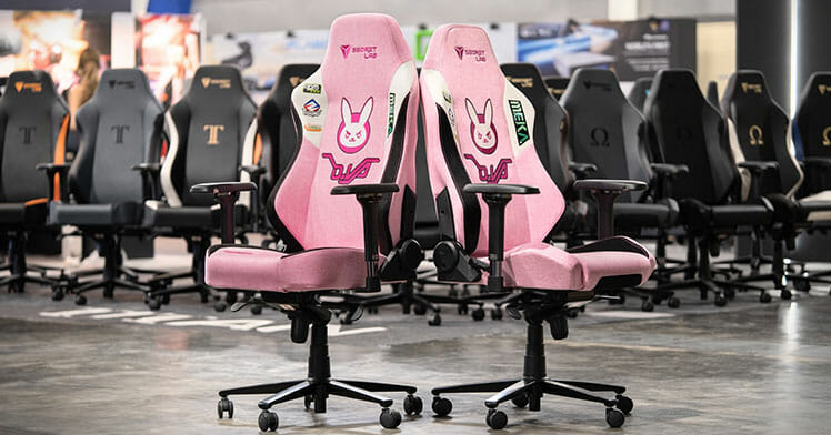 Secretlab pink D.Va gaming chairs
