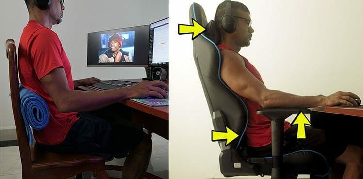 Gaming chair versus DIY ergo chair