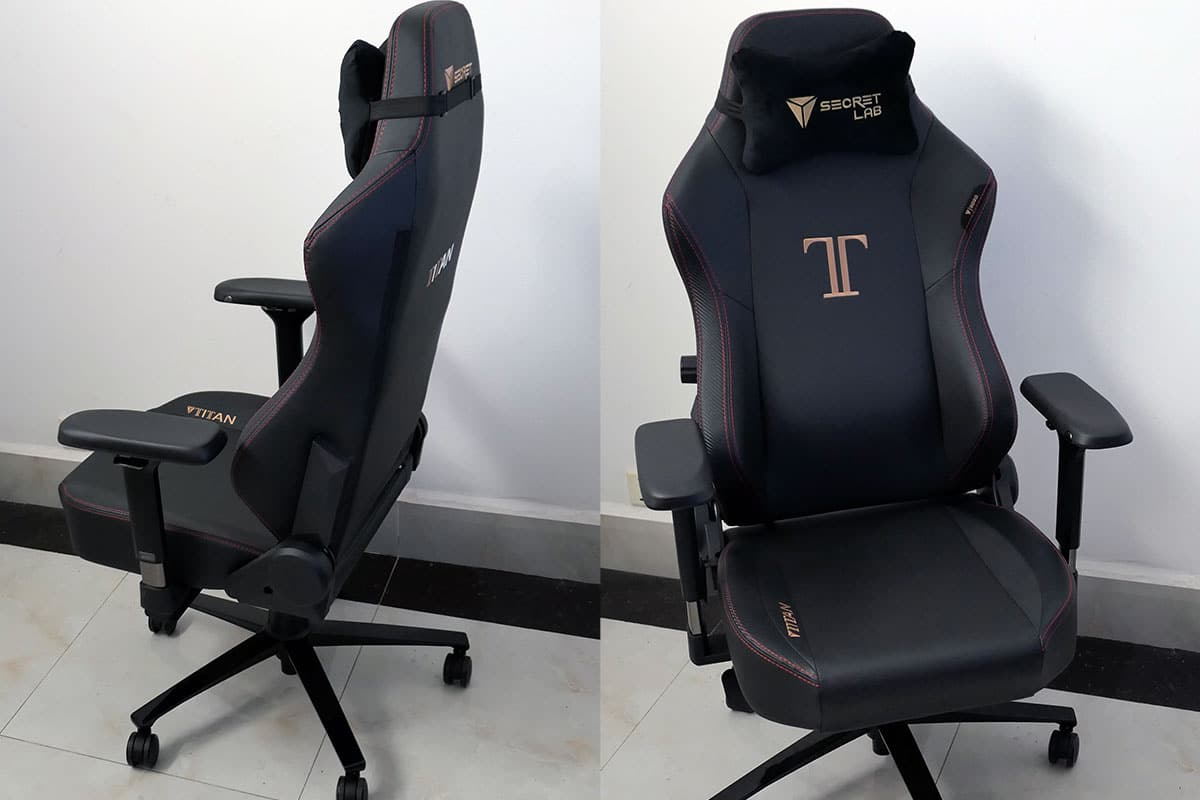 Titan Stealth ergonomic chair angles