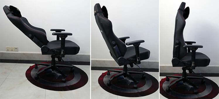Secretlab Titan seat and backrest recline angles