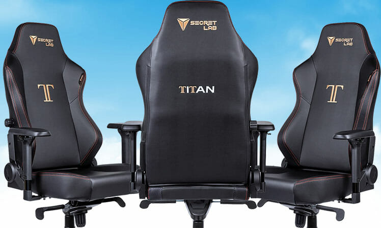Secretlab Titan Stealth edition ergonomic gaming chair