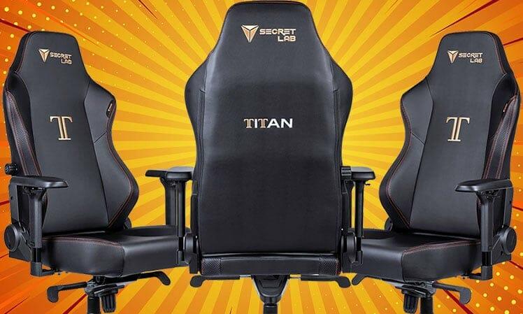 Secretlab Titan Stealth 2020 Series front and side views