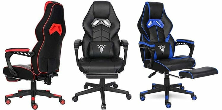 Elecwish 2020 Series footrest gaming chair color options